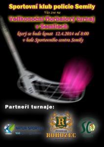 plakát florbal 2014